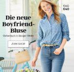Z. B. 33% sparen: Hemden 35€, Blusen 40€ bei Landsend