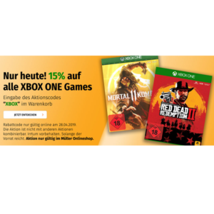 xbox aktion bei müller