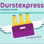 Durstexpress-Gutschein: 15€ Rabatt für Getränkelieferung (30€ MBW)