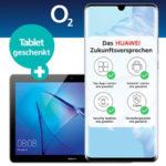 Huawei P30 Pro + 20GB LTE o2 Allnet Flat für 34,99€/Monat + 140€ Amazon.de-Gutschein + Gratis Tablet (oder mit 30GB / 60GB LTE)