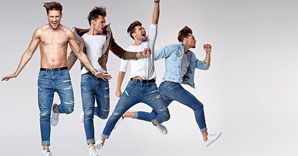Männer-in-Jeans