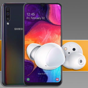 Samsung Galaxy A50 galaxy buds