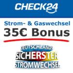 2x 35€ Amazon.de Gutschein* für Strom und Gas bei CHECK24