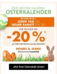 Kaufhof Osterkalender: 20% Rabatt auf Hosen & Jeans