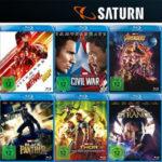 Saturn: Nimm 3 Zahl 2 Marvel Aktion – Auswahl aus über 100 Titeln (Blu-ray & DVD)