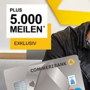Commerzbank Girokonto inkl. 100 EUR Startguthaben + 5000 Meilen – mybonus