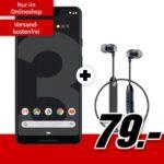 *44€ Ersparnis & Tarif eff. GRATIS* Google Pixel 3 XL + Sennheiser CX6 + Allnet-Flat + 6GB LTE für mtl. 21,99€ (MediaMarkt, Vodafone-Netz) - viele weitere Bundles!