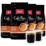 4 kg Melitta Cafe Bar Kaffeebohnen ab 29,99€ + gratis 2 doppelwandige Kaffeegläser (statt insg. 78€)