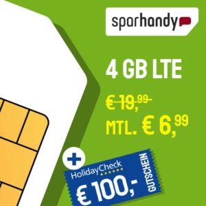 Sparhandy 4GB LTE Datentarif