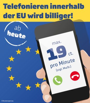 Telefonieren ins EU-Ausland