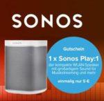 *Eff. kostenlos* 100€ Amazon.de-Gutschein zur Alles-Flat + 4GB LTE für 14,99€/Monat - oder: mit Sonos Play:1 für nur 125€ Gesamtkosten (Wert Sonos: 170€!) - Tarifhaus