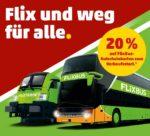 Penny: 20% Rabatt auf FlixBus & FlixTrain Gutscheinkarte