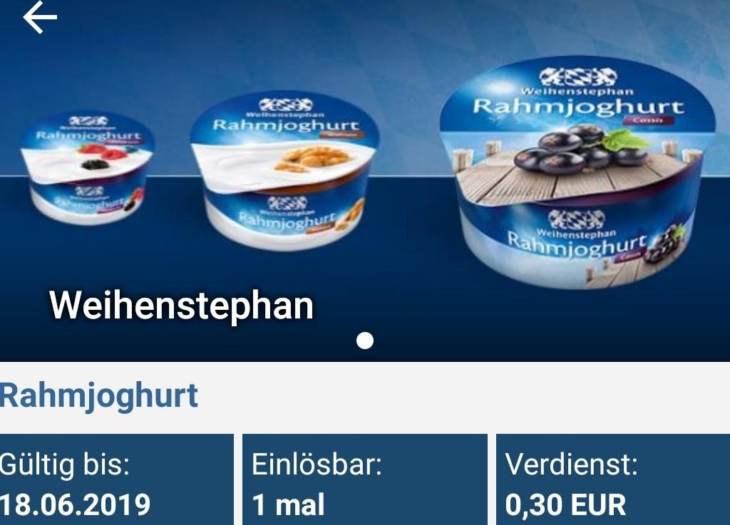 Weihenstephan Rahmjoghurt Für 0,09 € Bei Rewe (reebate