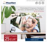 PixelNet: Premium-Fotobuch mit bis zu 74 Seiten zum Festpreis von 25€
