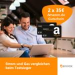 *Erhöhter Bonus* 2x 35€ Amazon.de Gutschein für Strom und Gas bei Verivox