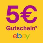 eBay: 5€ Gutschein ohne MBW - GRATIS: Hodenleuchte, USB Kabel, u.v.m. Freebies möglich!