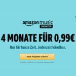 Amazon Music Unlimited: 4 Monate für insgesamt 0,99€ (für Prime Kunden)