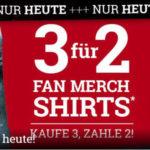 Nur heute: 3 für 2 - Aktion bei Fan T-Shirts bei EMP