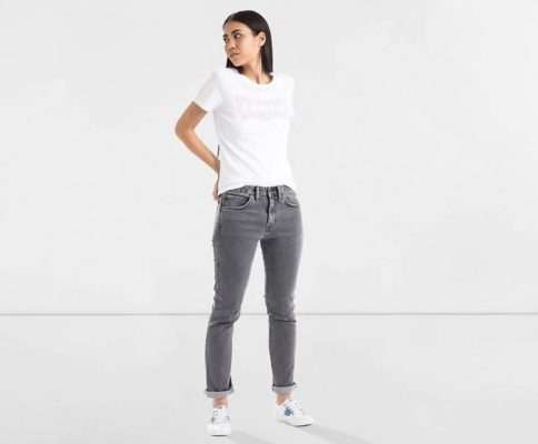 Line 8 Slim Taper Jeans - Schwarz