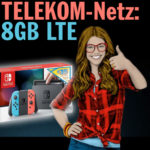 Nintendo Switch Konsole Rot Blau inkl 35 Eur Gutschein Congstar Allnet Flat Online Speed Titelbild