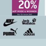 Otto: 20% auf die Kategorien Mode & Wohnen - Lacoste Polo, Levis T-Shirt und mehr