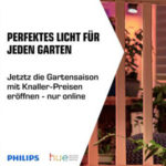 Saturn: Philips Hue Outdoor-Angebote, z.B. PHILIPS Hue White Fuzo LED Sockelleuchte für 87,99€ (statt 98€)