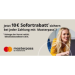Technikdirekt: 10€ Rabatt ab 30€ MBW mit Masterpass