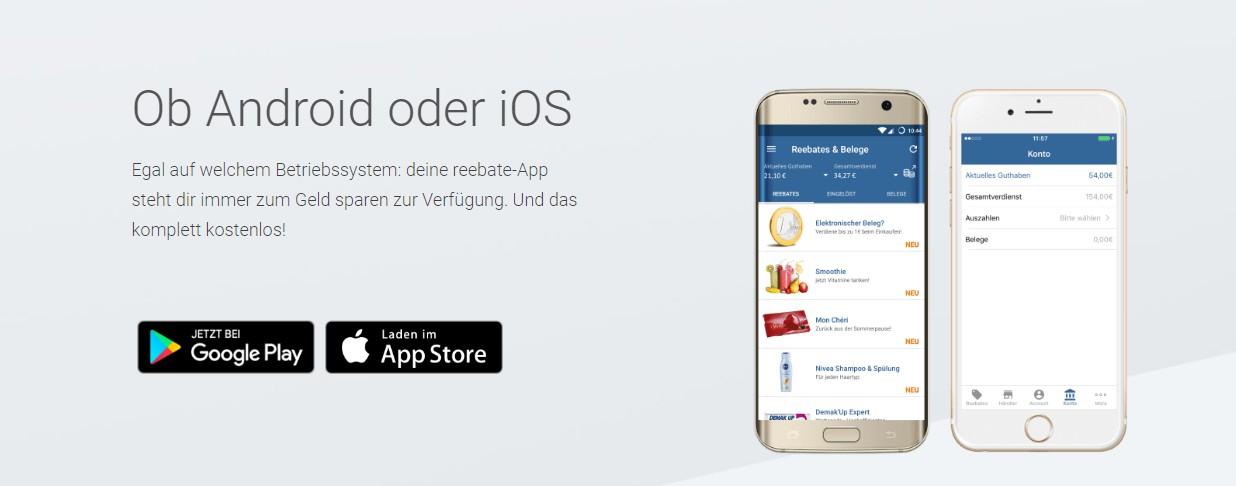 reebate App für Android und iOS