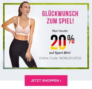 bcecfc9ad7 Vorbei Nur heute bei Hunkemöller: 20% Rabatt auf Sport-BH's