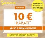 NUR heute: 10€ Rabatt ab 50€ Einkauf bei Kaufhof und Karstadt