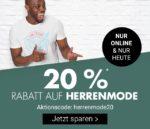 Nur heute bei Karstadt: 20% Rabatt auf Herrenmode