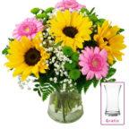 Blumenstrauss-mit-Sonnenblumen