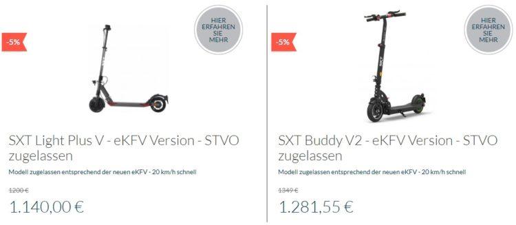 SXT-Scooters stvo