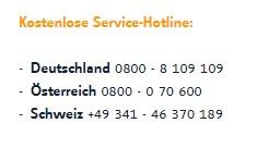 Lensspirit Service-Hotlines