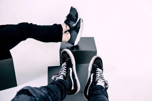 Sneaker schwarz sparen