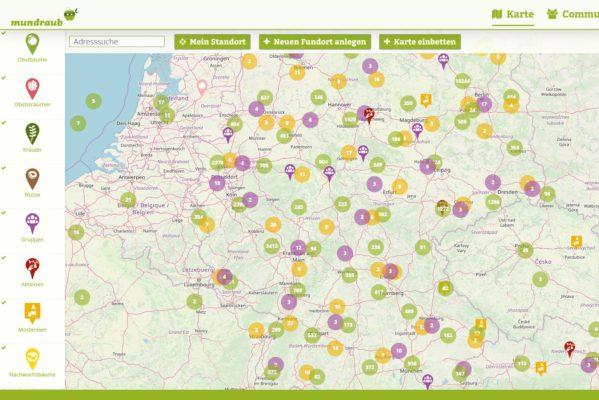 mundraub.org Karte