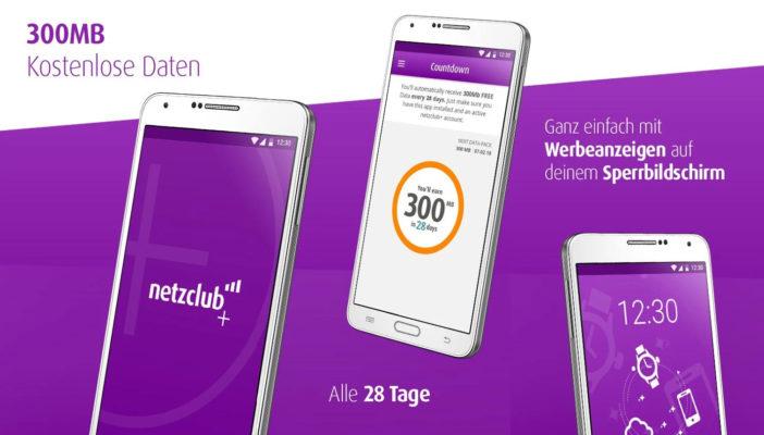 300MB LTE kostenlos dank netzclub+ App