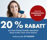 20% zusätzlich Rabatt auf bereits reduzierte SALE-Mode-Artikel bei Karstadt