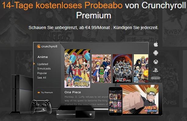 Crunchyroll Premium kostenlos