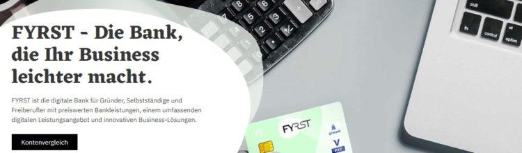 Digitale Bank für Unternehmer Freiberufler FYRST
