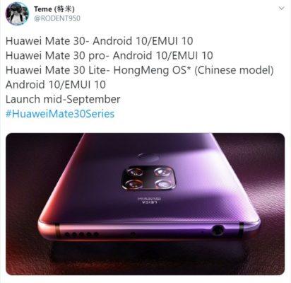 Huawei Mate 30 Lite HarmonyOS