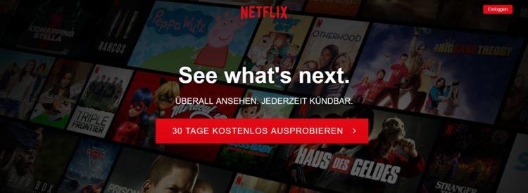 Netflix 30 Tage kostenlos