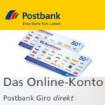 100€ Prämie für die Eröffnung des Postbank Giro direkt – kostenlos für Studenten, Azubis, u.v.m. (alle anderen: 1,90€/Monat)