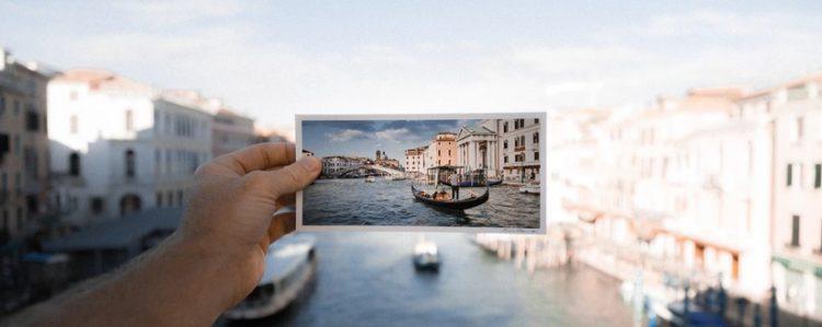 Postkarte-Urlaub