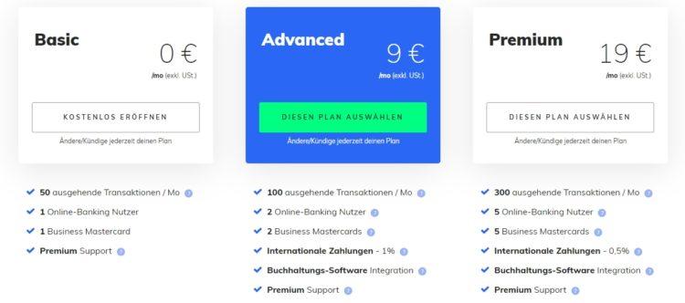 Preise - Penta Banking