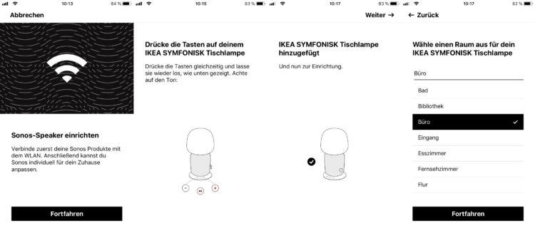 Sonos IKEA Symfonisk Einrichtung