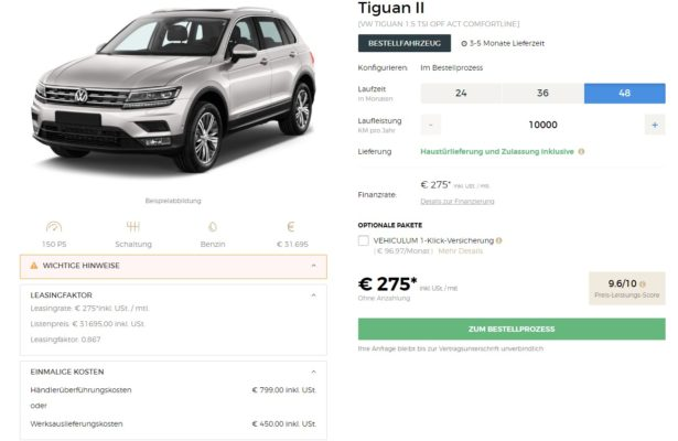 VEHICULUM_ VW Tiguan Privatleasing