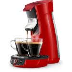 PHILIPS Senseo Viva Café HD6564/80 für 48,99€ (Kaffeepadmaschine, Entkalkungsanzeige, 0,9 l, bis zu 6 Becher) - Rot
