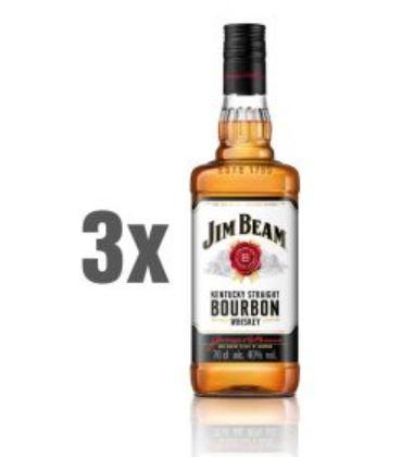 3x Jim Beam Kentucky Straight Bourbon Whiskey