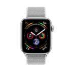 APPLE Watch Series 4 40mm Smartwatch Aluminium, gewebtes Nylon, 130-200 mm, Arm
